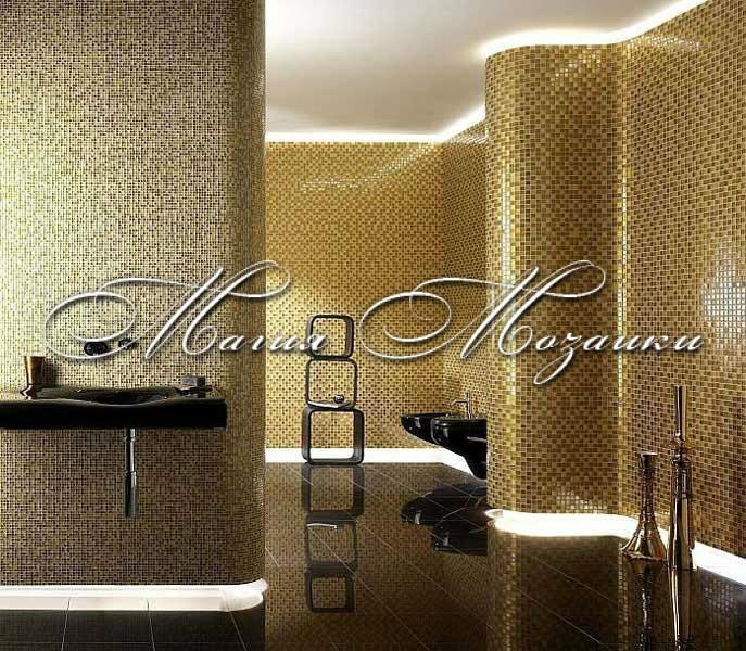 Мозаика для ванной (золото)