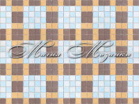 Blue Brown Plaid 23